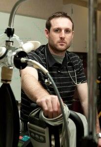 Alex Kasak at his Mayo Clinic physiology lab.