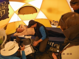 The Mayo Clinic team built a full physiology testing lab on the shoulders of Everest.